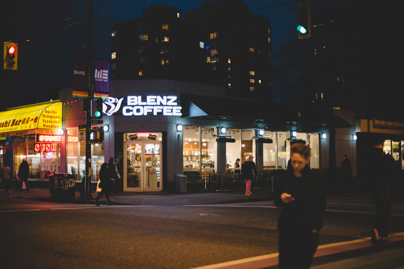 Blendz Coffee in West End Vancouver, BC