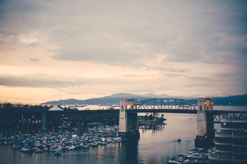 Views from the Granville Bridge in Vancouver, British Columbia