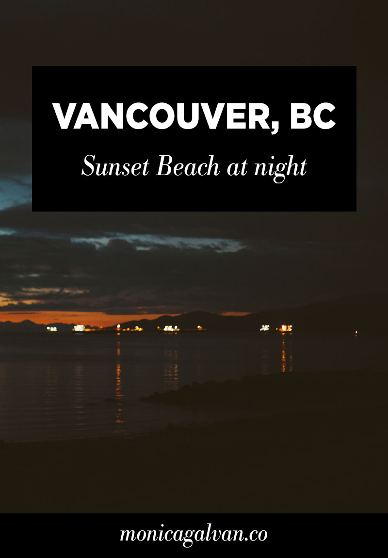 Vancouver, BC: Sunset Beach at Night