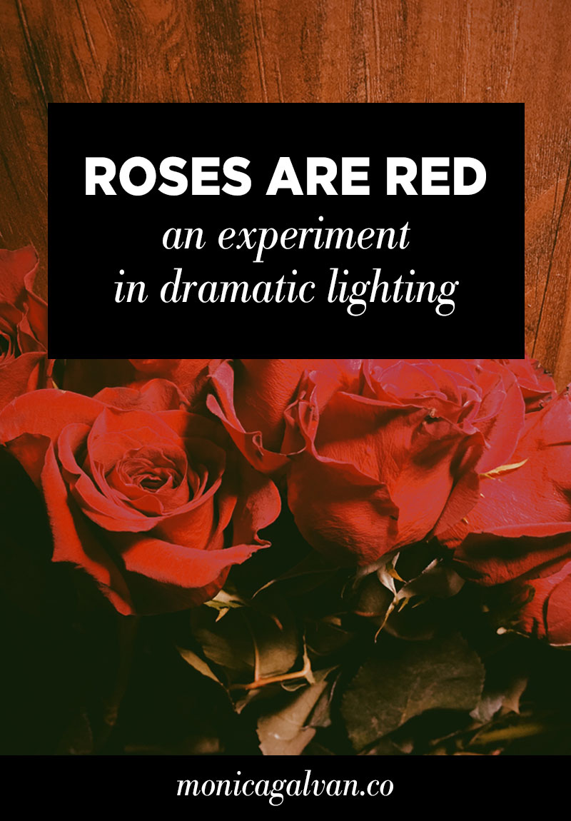 Roses are Red: An Experiment in Dramatic Lighting