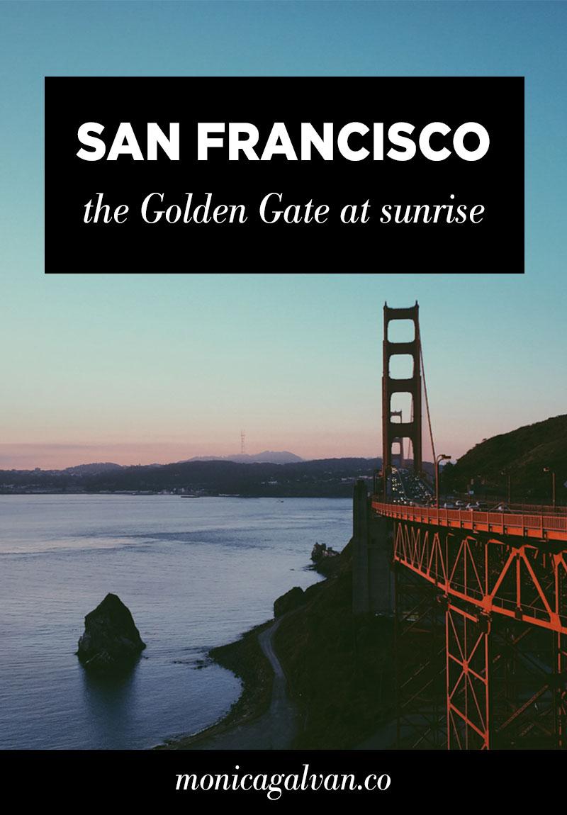 San Francisco: The Golden Gate at Sunrise