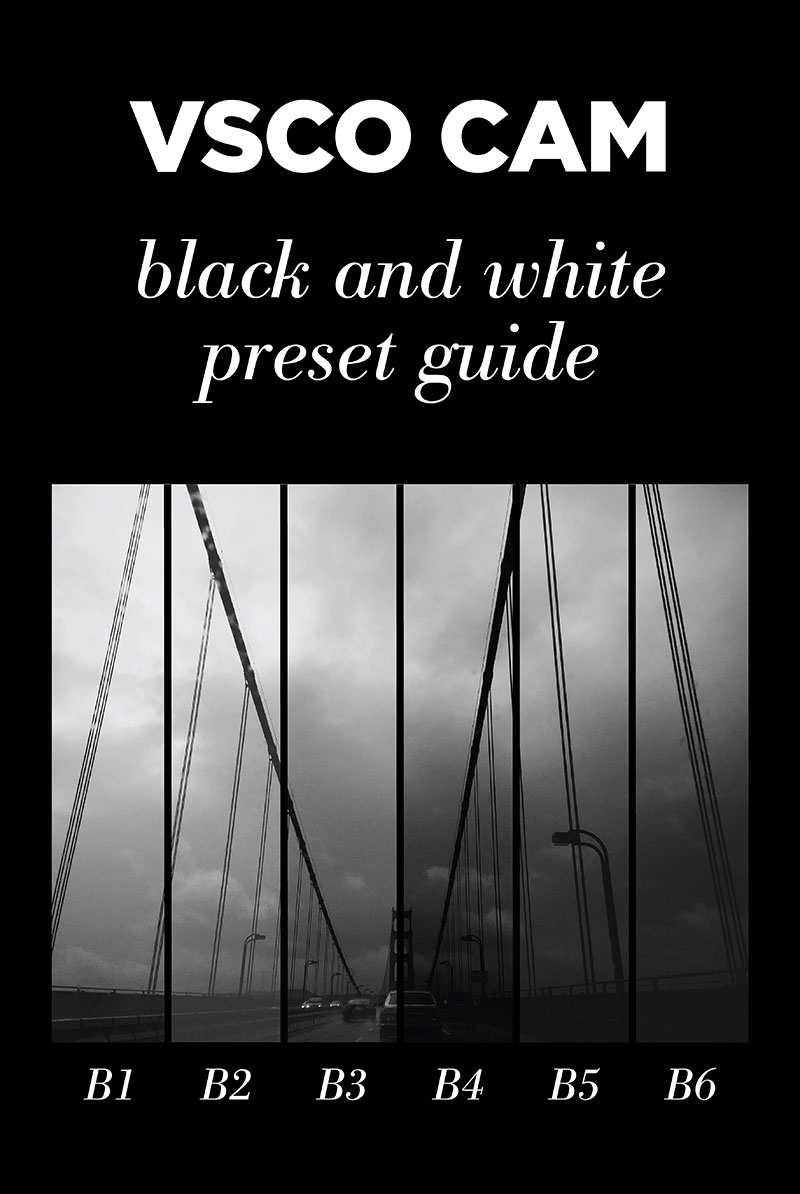 VSCO CAM: Black and White Preset Guide