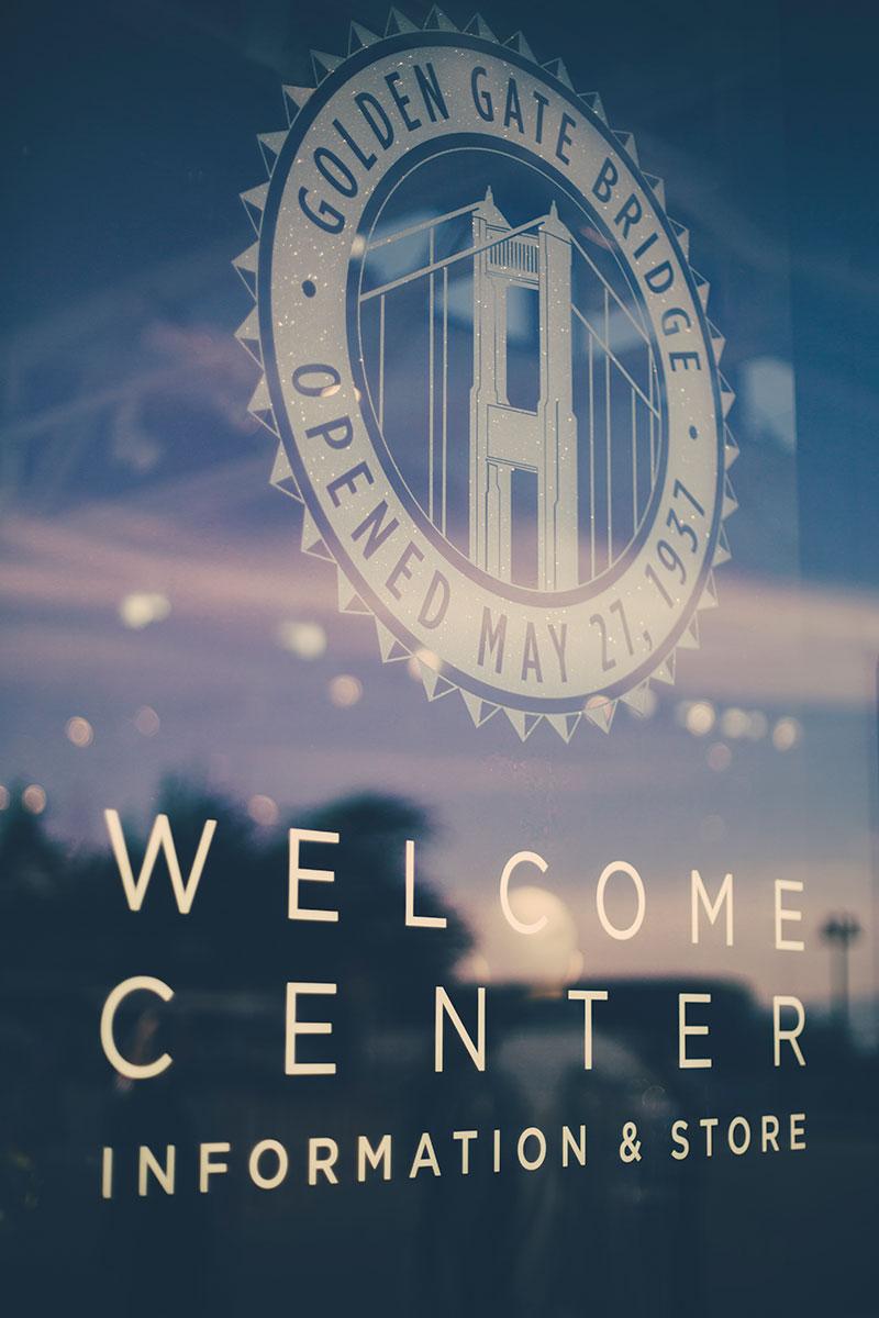 Golden Gate Welcome Center Sign