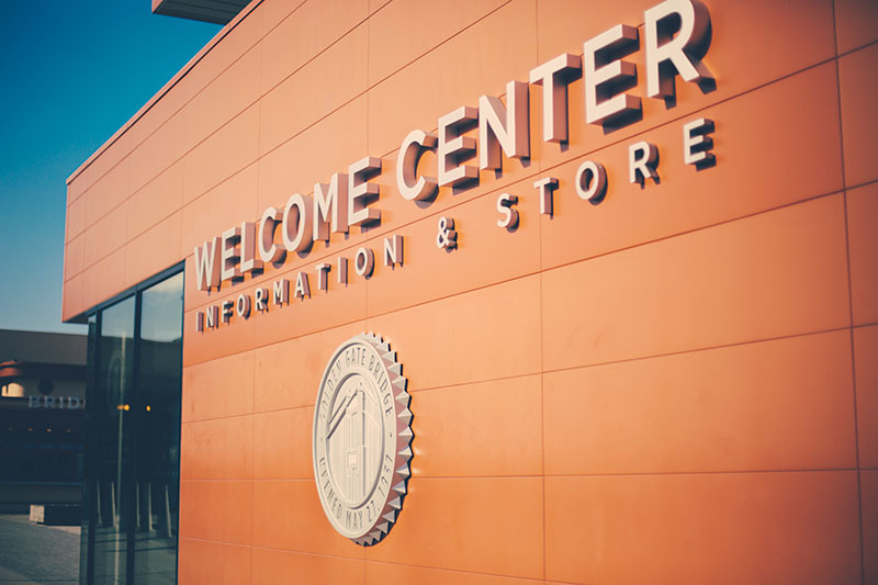 Golden Gate Welcome Center Signage