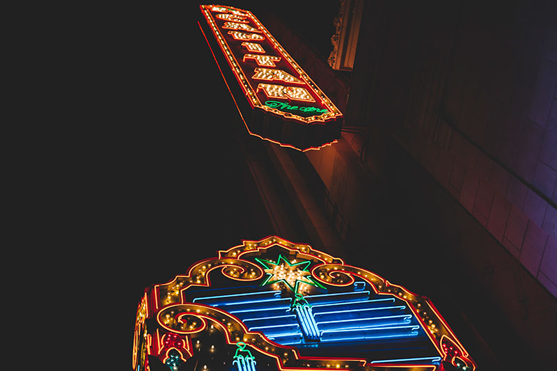 Downtown Hollywood signage photography
