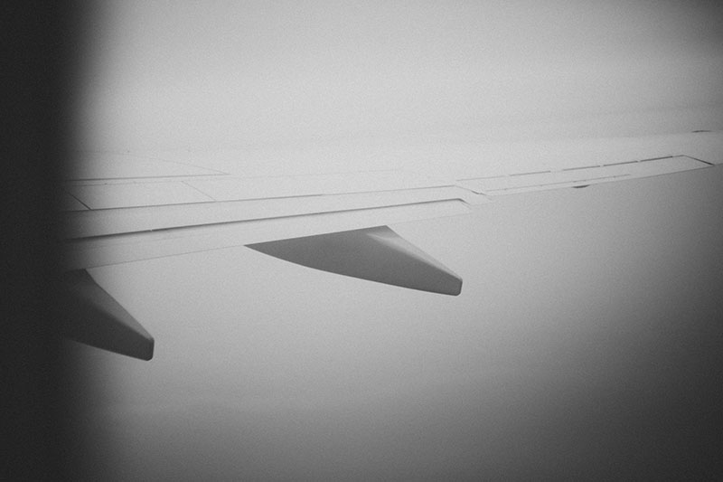 California skies: Flying over California