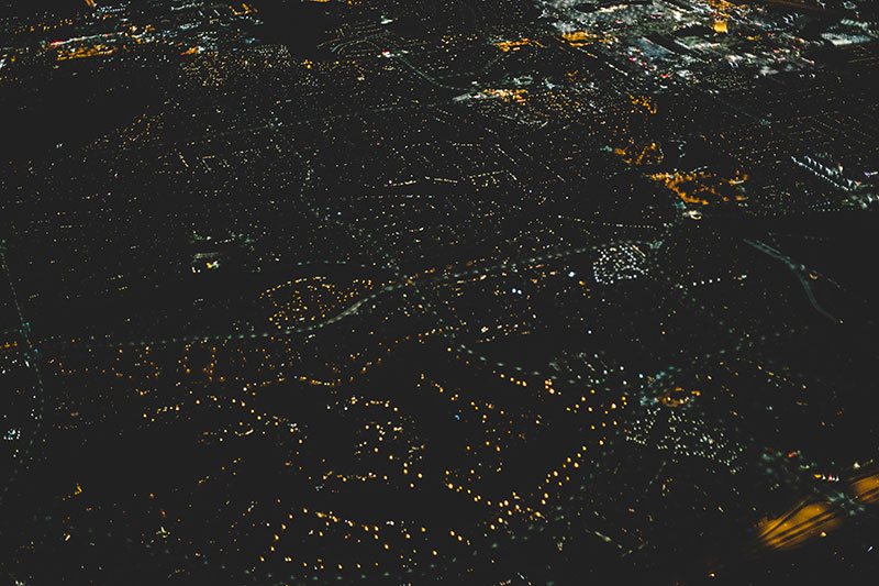 Night Aerial Views: San Francisco to Las Vegas