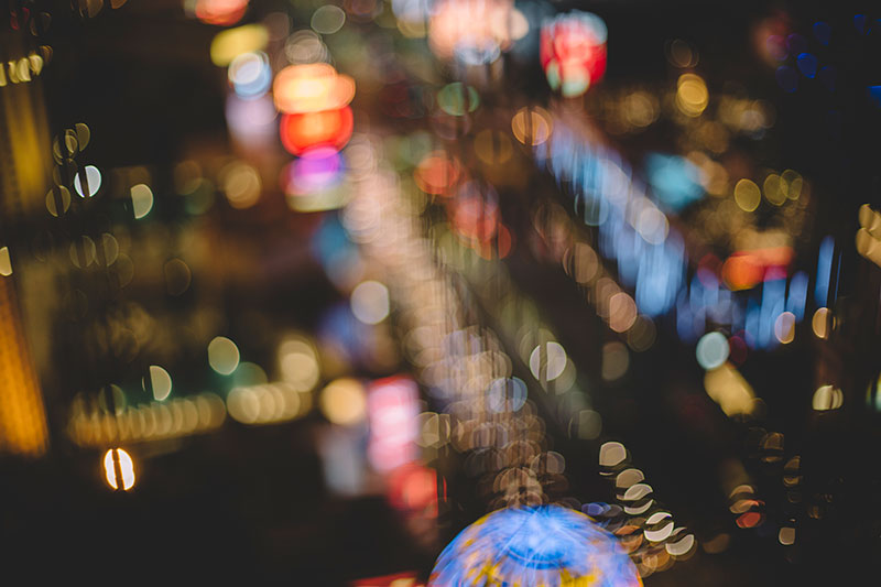 Rainbow bright: Las Vegas in bokeh