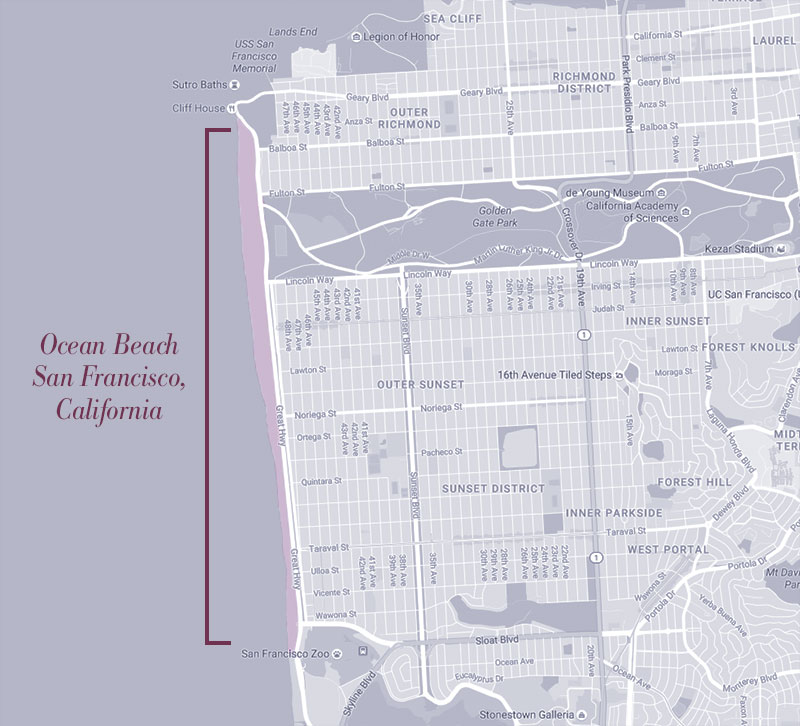 San Francisco Ocean Beach map