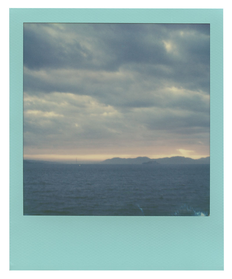 Polaroid 600 Film: San Francisco's Golden Gate Bridge from Treasure Island