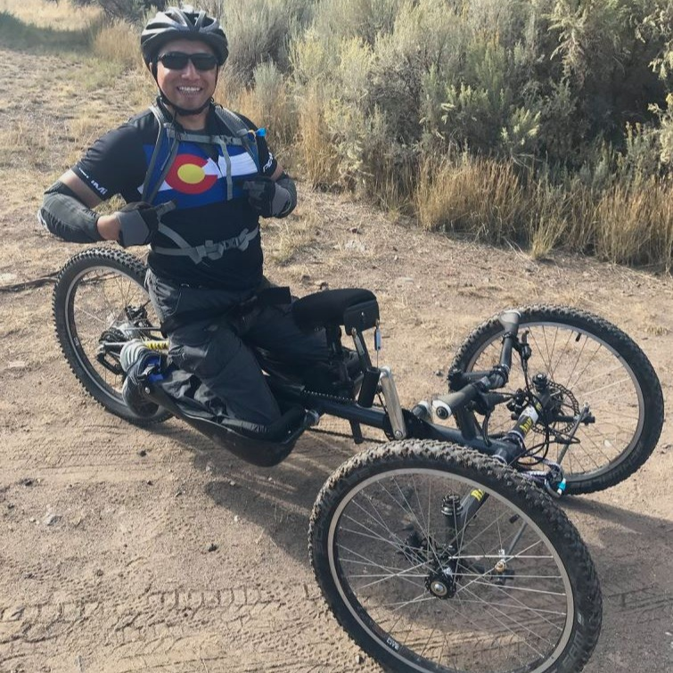 Ortiz racing in the annual World TEAM Adventure Challenge in Eagle, CO.