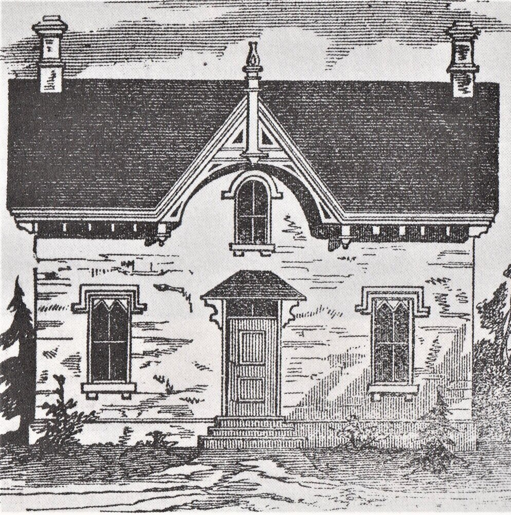 An illustration from  The Canadian Farmer , vol. 2, 1865, p. 244.