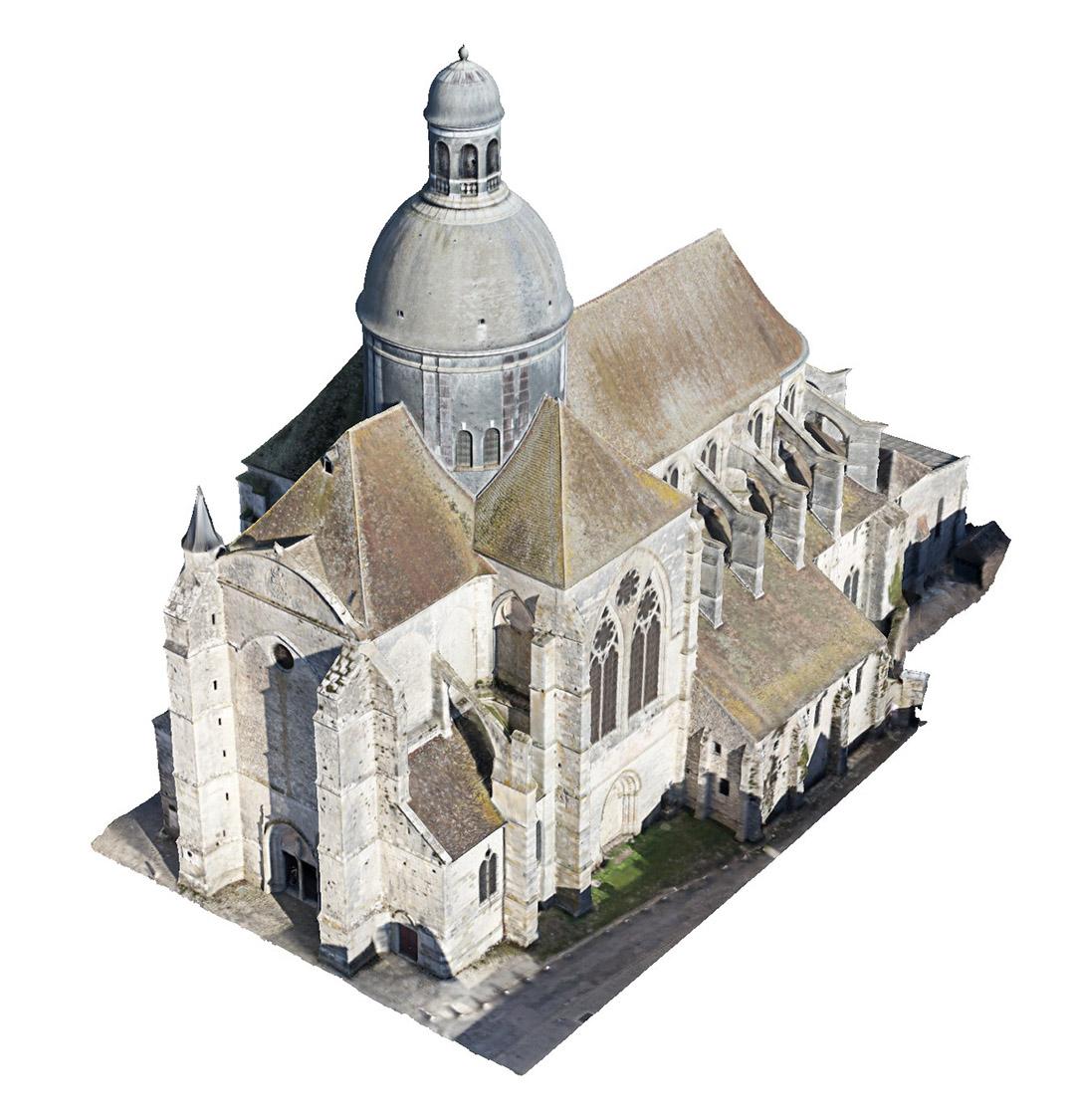 3D - Précision < 1 cmReprésentation 3D des bâtiments, du patrimoine, des infrastructures …Acquisition par drone et caméra spécialisés et accroissement de la précision par relevés de 20 cibles au sol au laser.Vérification et optimisation par infographie