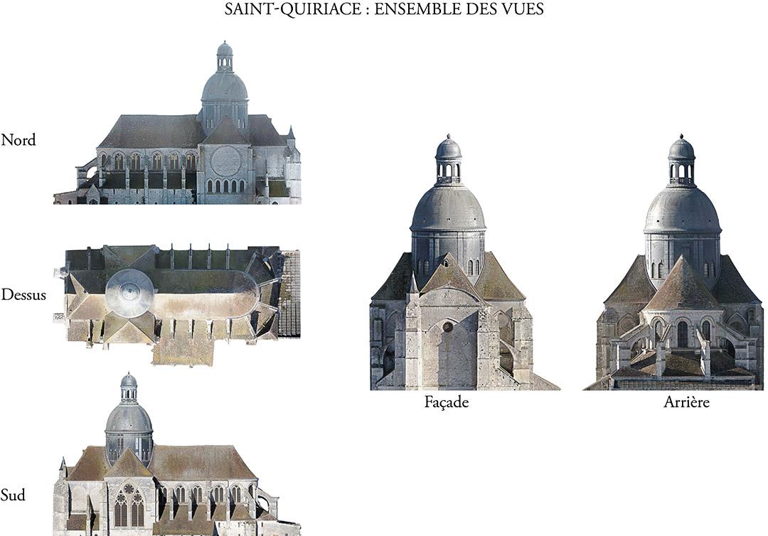 Orthophotographies de façades - Précision jusqu'à 1 mm par pixelAcquisition par drone et par appareil photo spécialisé des façades pour inspection (fissures, anomalies, …) ou en vue d'en établir des plans.