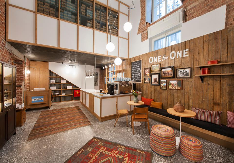 Toms store and café in Thessaloniki, Greece