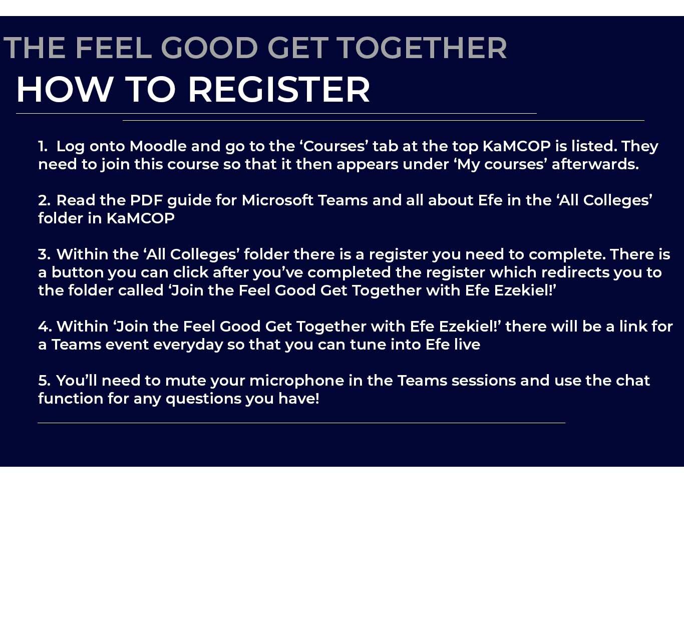 Feel Good Get Together With Efe Ezekiel Register Now Your
