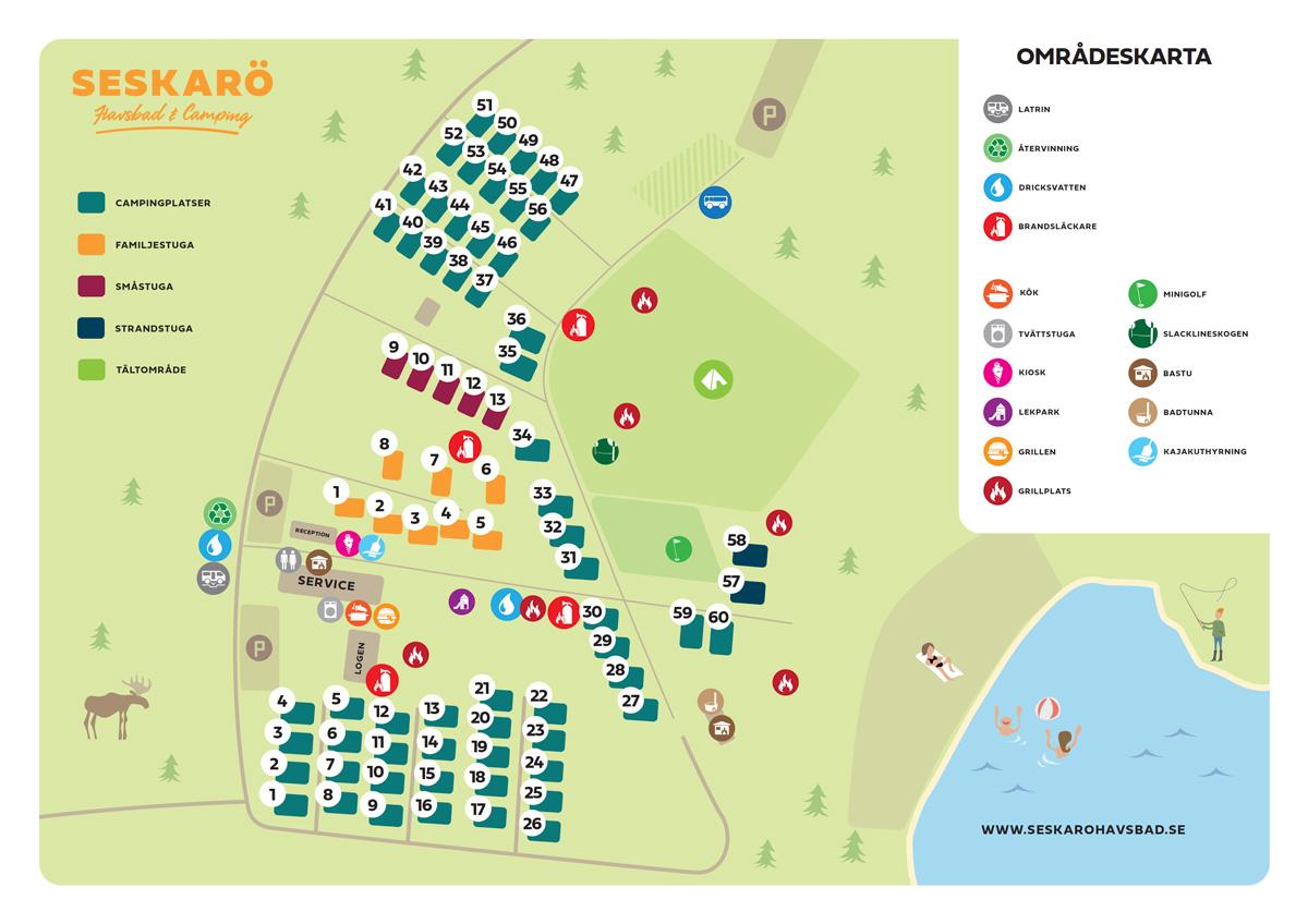 Klicka här för att se en större bild av områdeskartan >