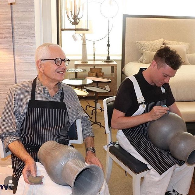 What a smashing event! Roy and Brad showing and telling at John Rosselli Market Square. Repost @johnrosselliassociates #design #nyceramics #homedecor #ceramics #sliptrailing #showandtell #royhamilton
