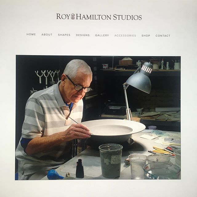 After much development and deliberation, I'm absolutely thrilled to unveil the new website! Onwards and upwards. Link in bio. #royhamilton #royhamiltonceramics #newwebsite #nyceramics #design #homedecor #surfacedesign #ceramics #clay