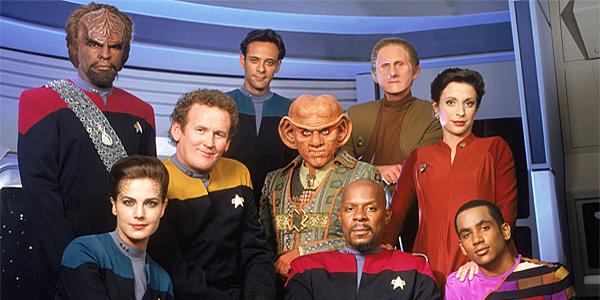 O elenco de  Deep Space Nine , uma das minhas encarnações preferidas de  Star Trek