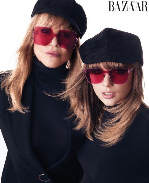 Pattie Boyd & Taylor Swift - para a Harper's Bazaar