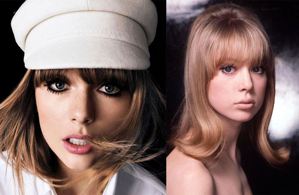 É bem esquisito - mas tudo bem, a ideia era caracterizar Taylor de Pattie mesmo! E ela entrevistou-a para a revista