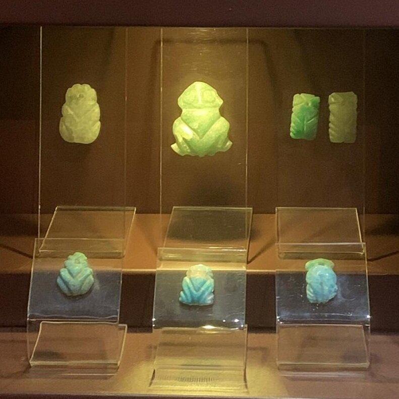 Muiraquitãs - no museu do Forte
