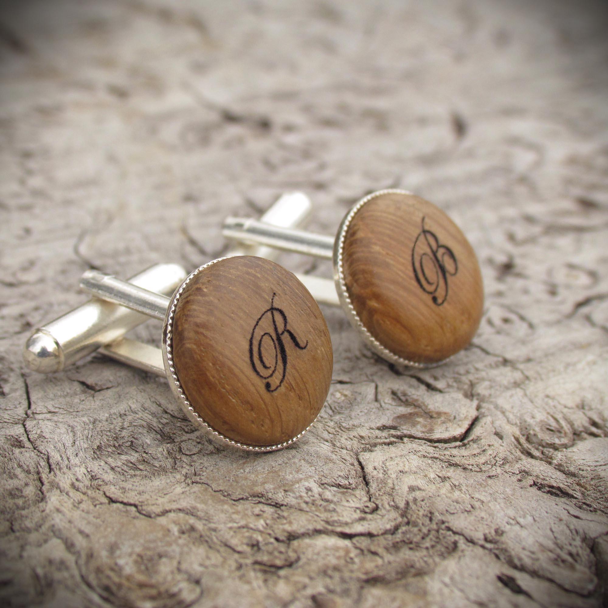 cufflinks from whisky barrel oak
