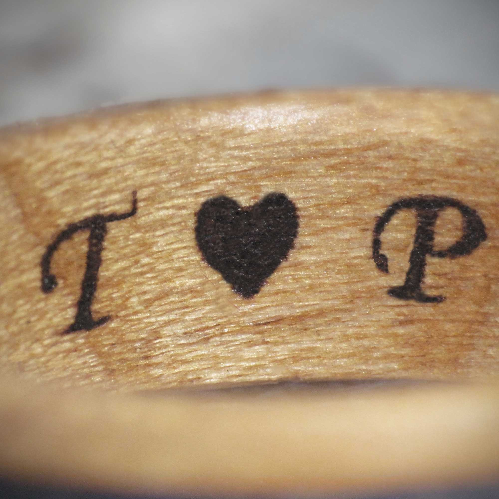 Personalised Wooden Rings -