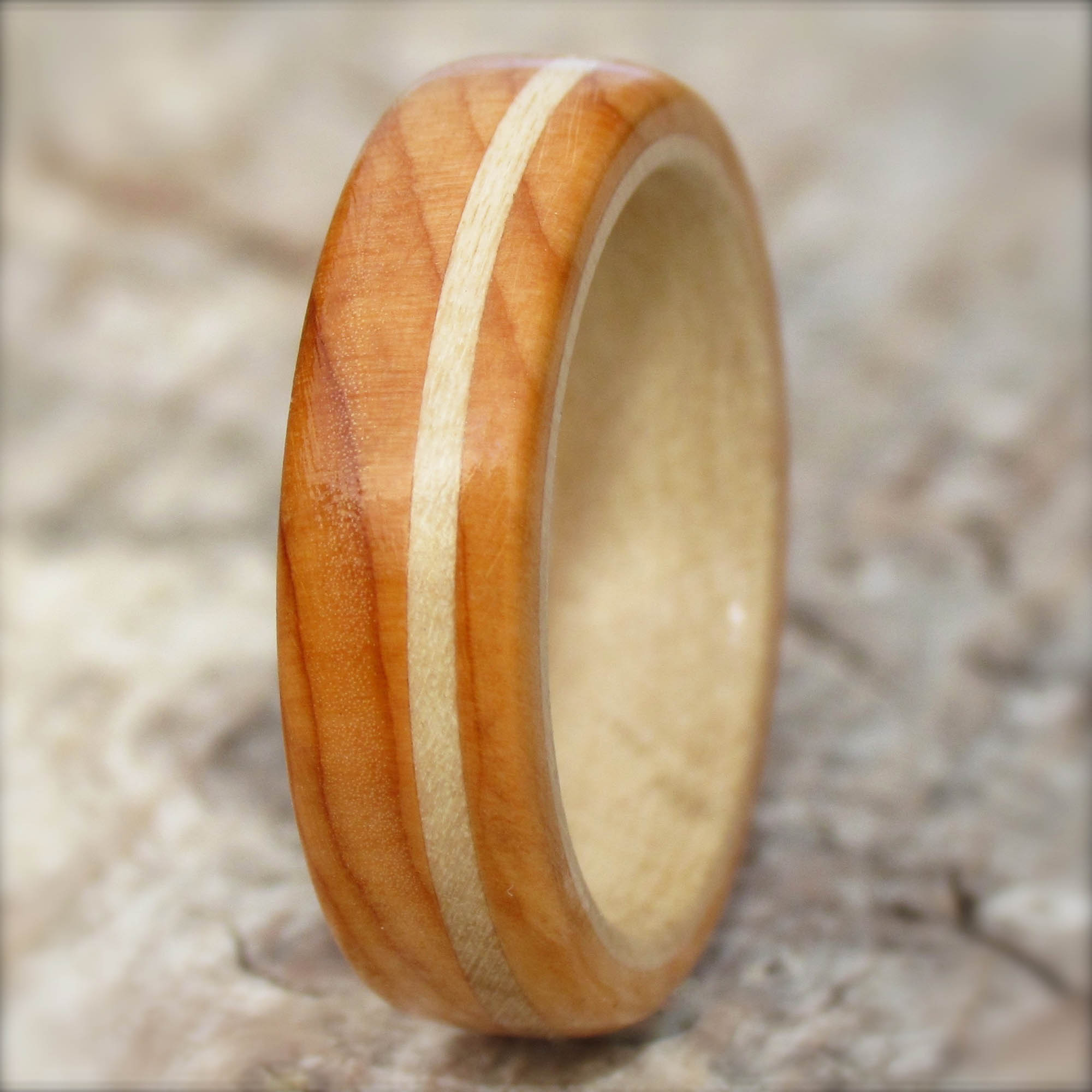 wooden ring from Yew and Holly trees