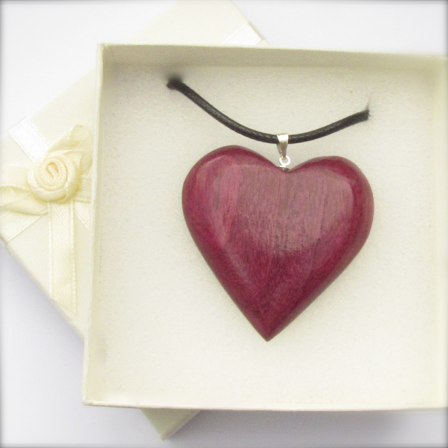 Purple Wooden Heart
