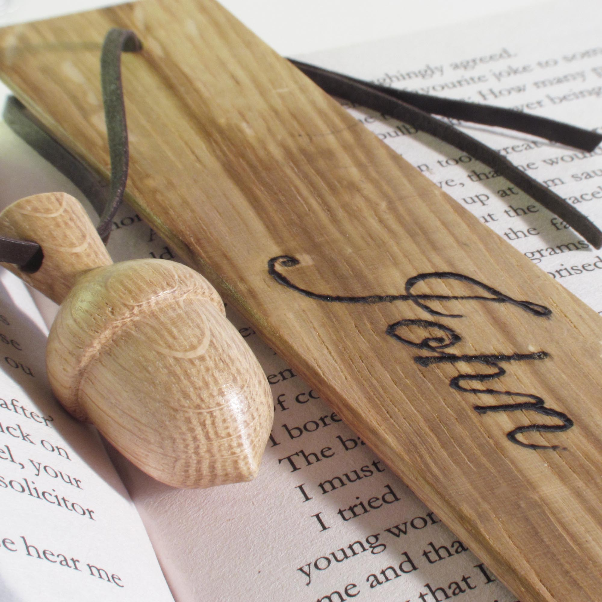 Bookmark made from wood