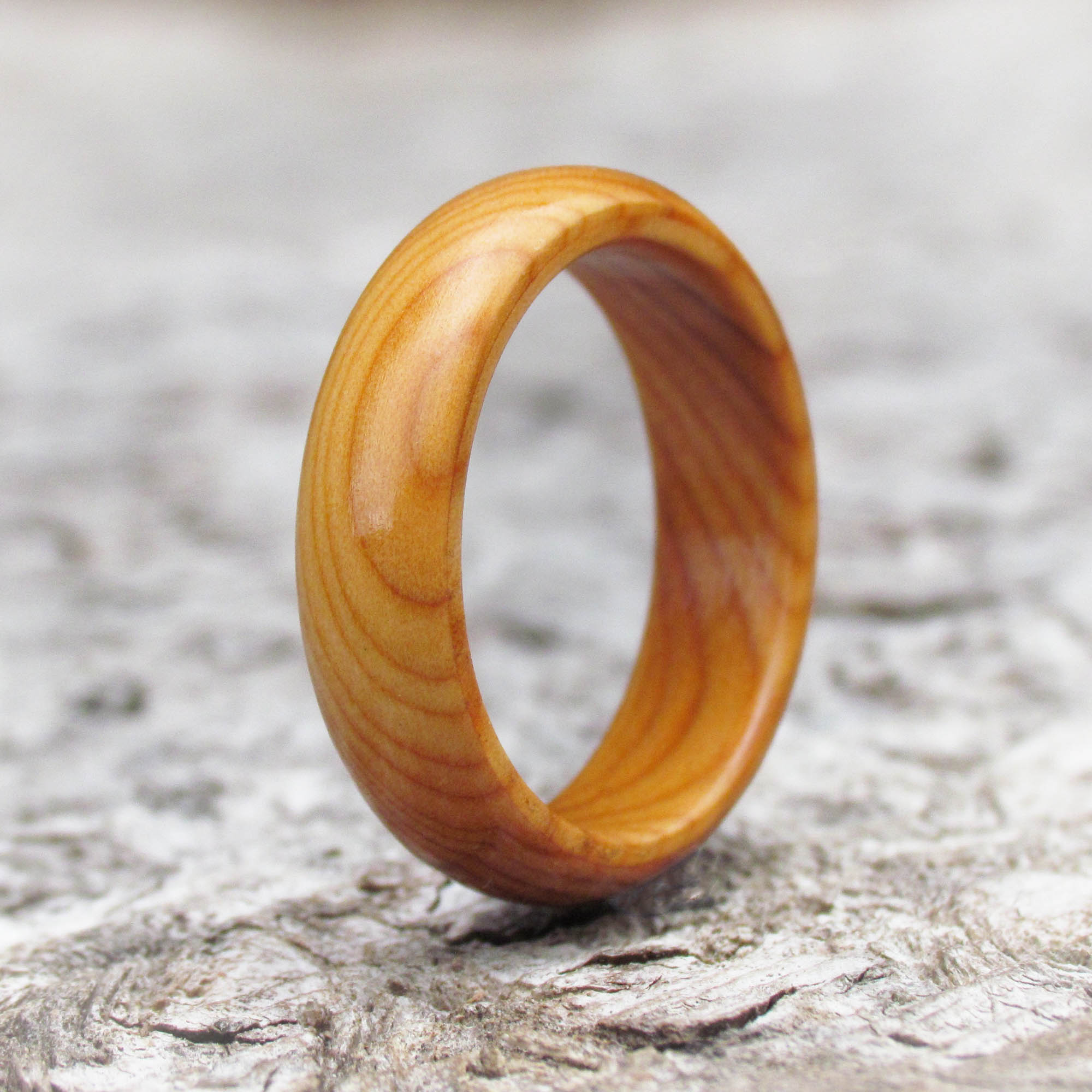 Yew Tree Wooden Ring