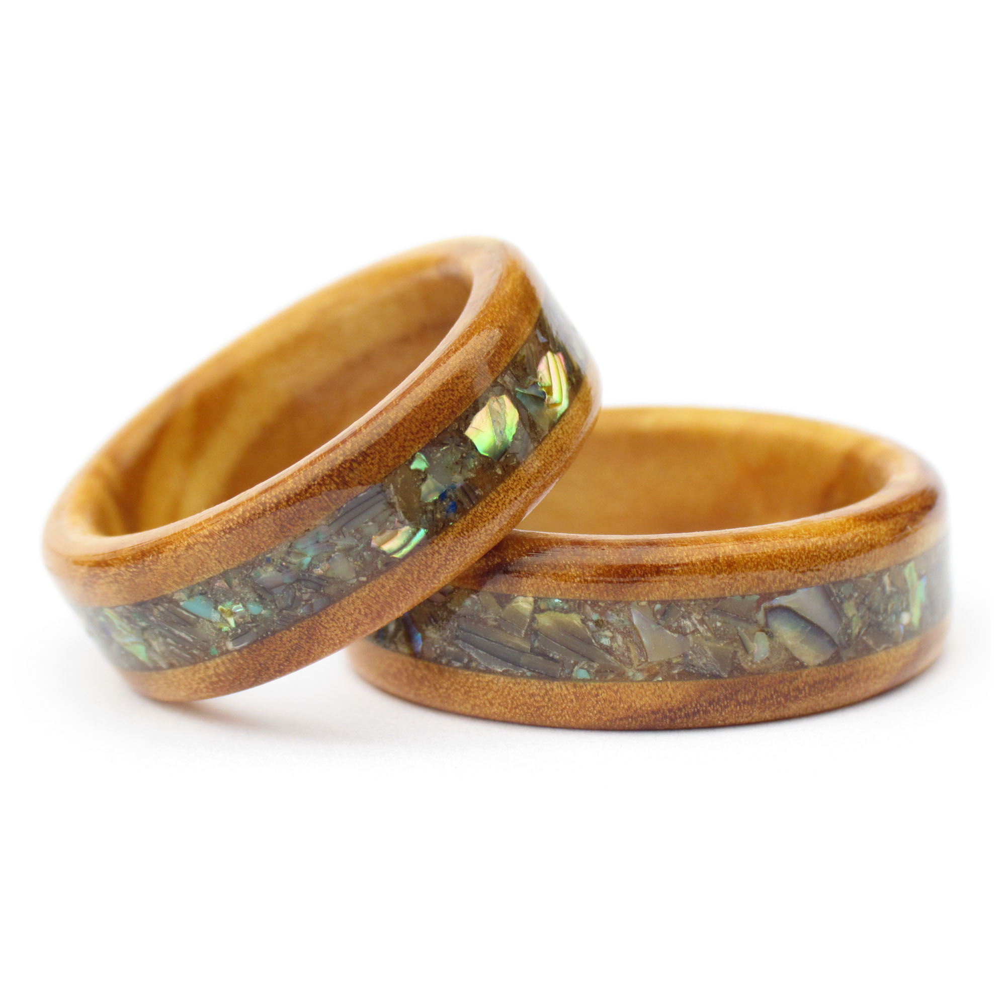 New Zealand Shell Wooden Ring -