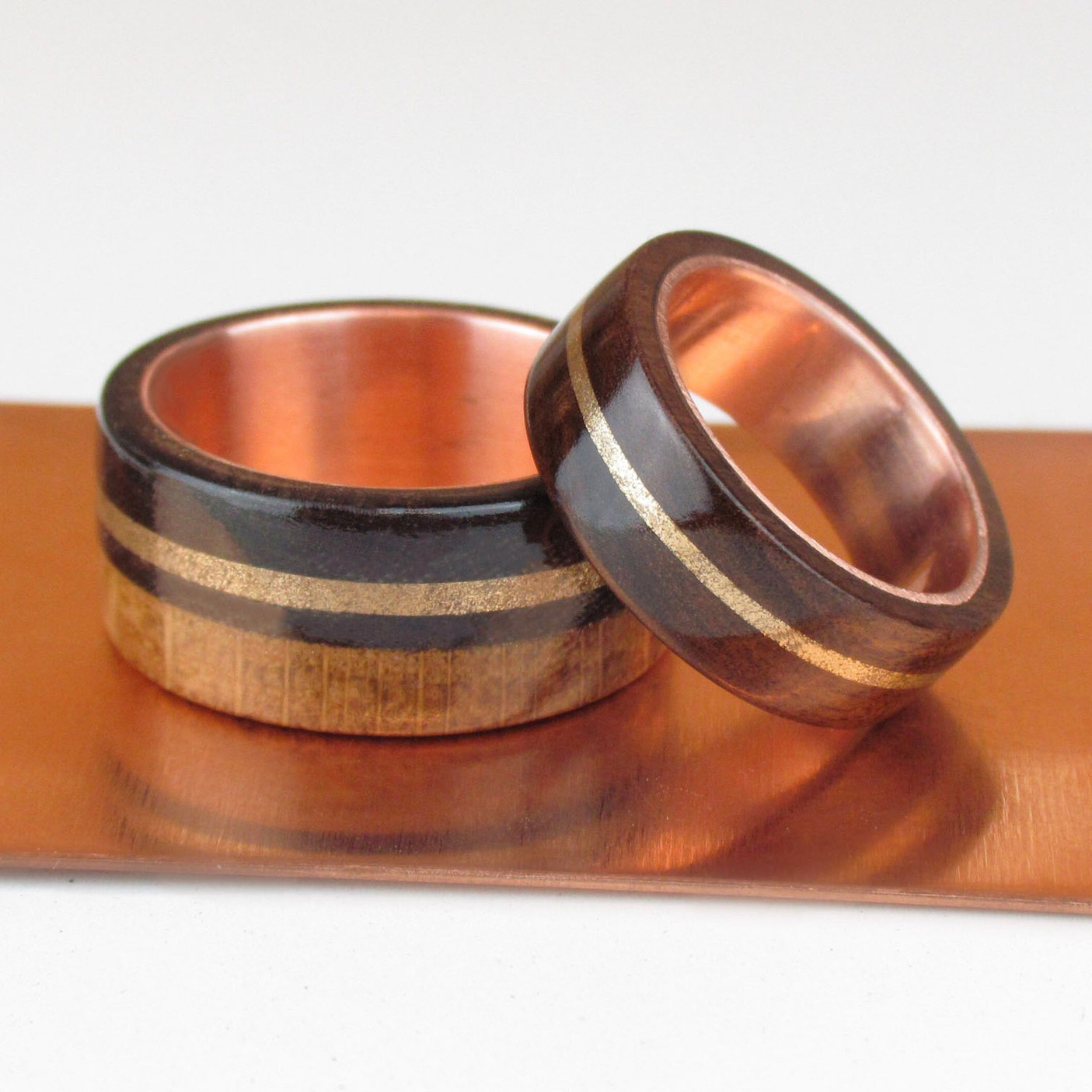 7th Wedding Anniversary Gifts - Copper and wood jewellery