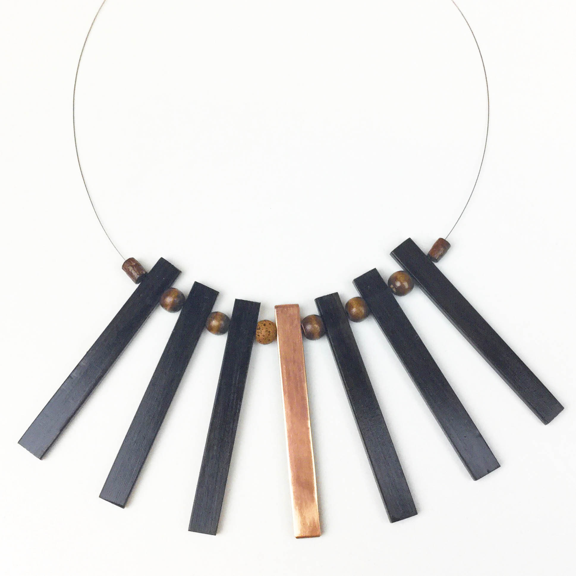 Copper And Ebony Necklace