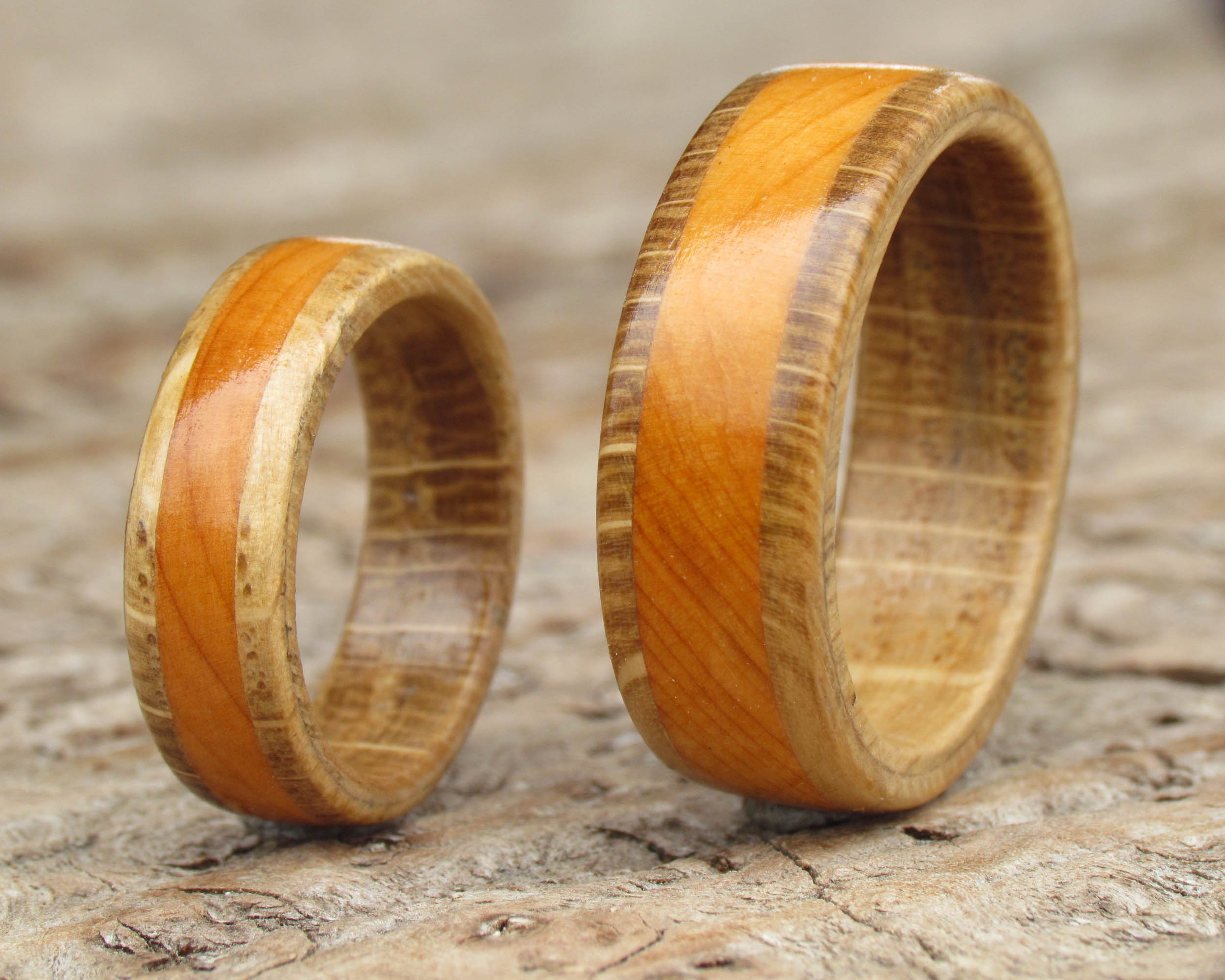 Oak and Yew wood ring