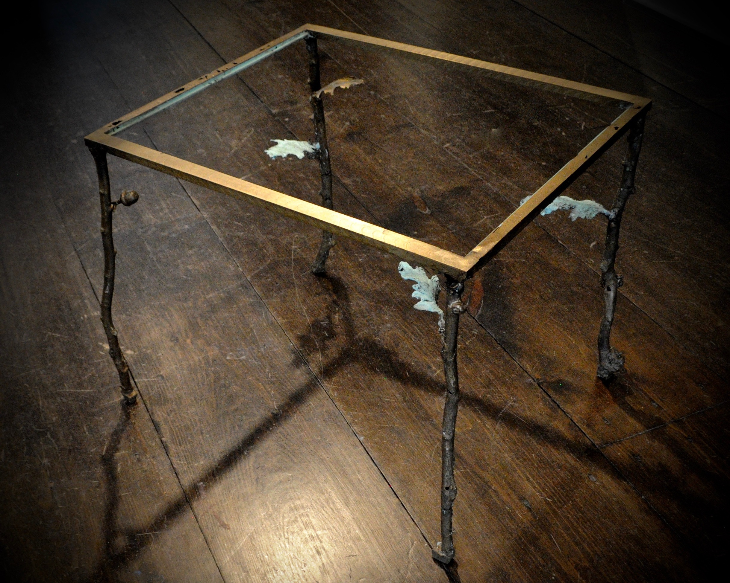 Bells Mill | End Table, 2018, bronze