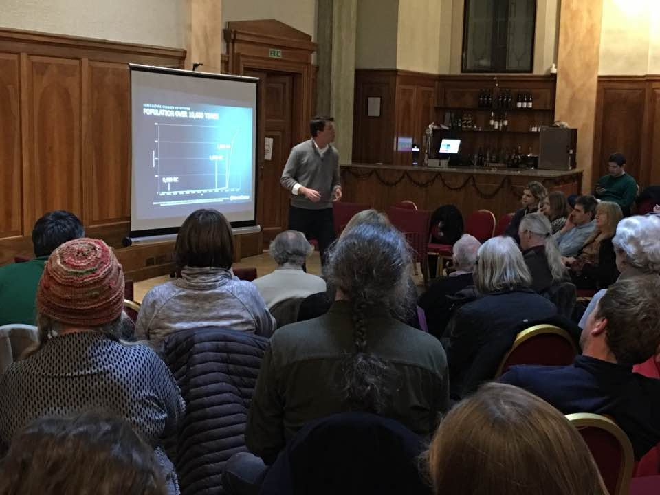 Vance Crowe at a Skeptics in the Pub event in the U.K.