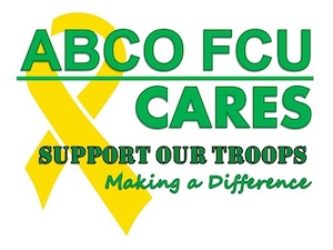 ABCO FCU cares. Support our troops. Making a difference.