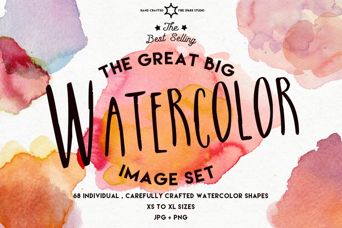 The Great Big Watercolor Image Set - $15+