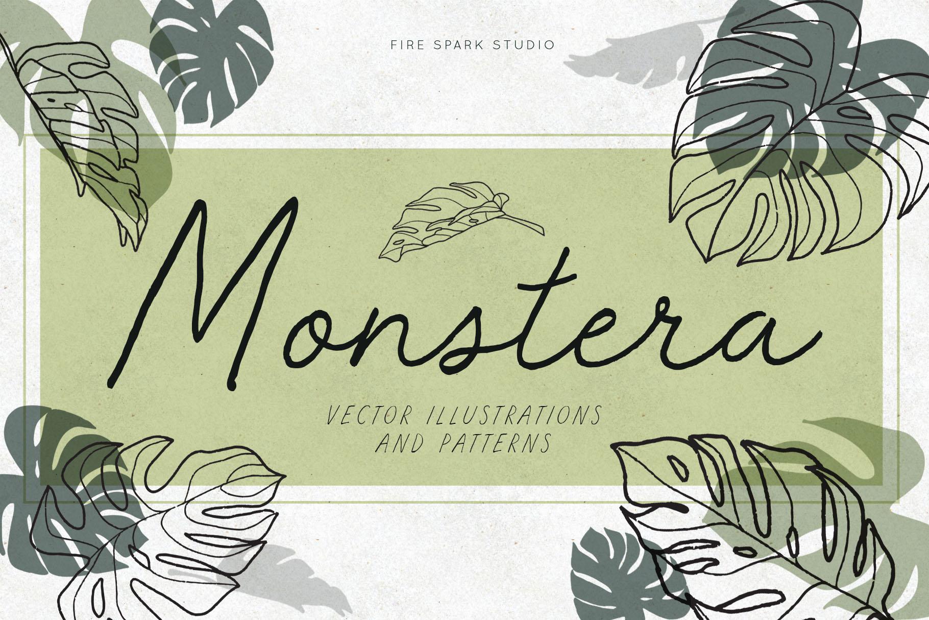 Monstera Vector Illustrations - $8+