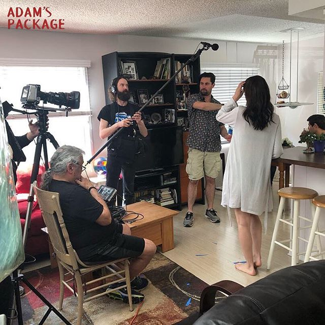 #TBT to earlier this spring and filming Adam's Package. We've come a long way in such a short time! Our poster came out last week (what did you think of it?!) and we have even bigger things in the works 💥 stay tuned!