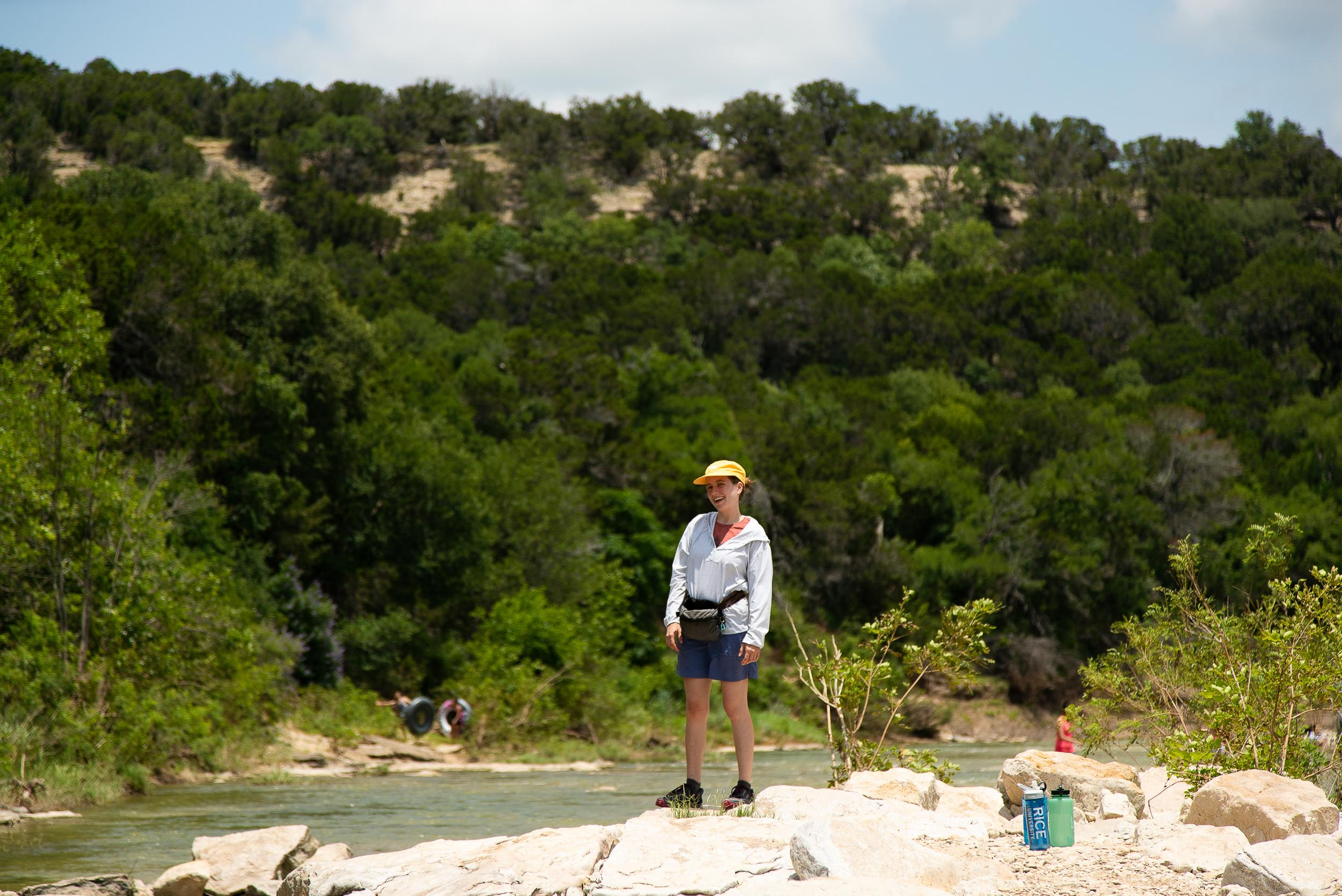 Sarah Mowery in the middle of the Paluxy River at Dinosaur Valley State Park in Glen Rose, Texas by  Cameron Mosier .