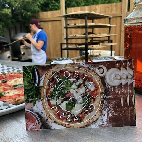 Getting ready to help the @cancer_assist program raise some money!  #pizza #fundraiser #cancerassistanceprogram #summer #crostacatering #crostapizzaco