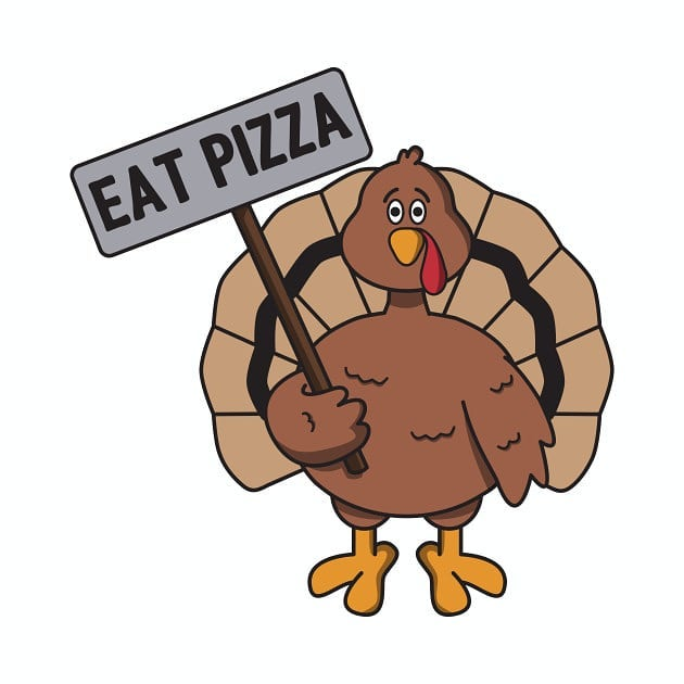 Save turkey, eat pizza! Happy Thanksgiving from the Crosta Pizza Co. team.  #pizza #crostacatering #crostapizzaco
