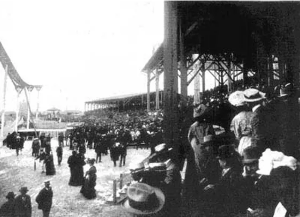 The Grand Stands from the Winnipeg Industrial Exhibition Grounds from the 1890's