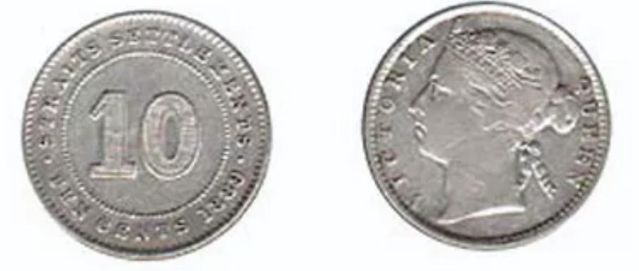 Straits Settlement Ten Cent