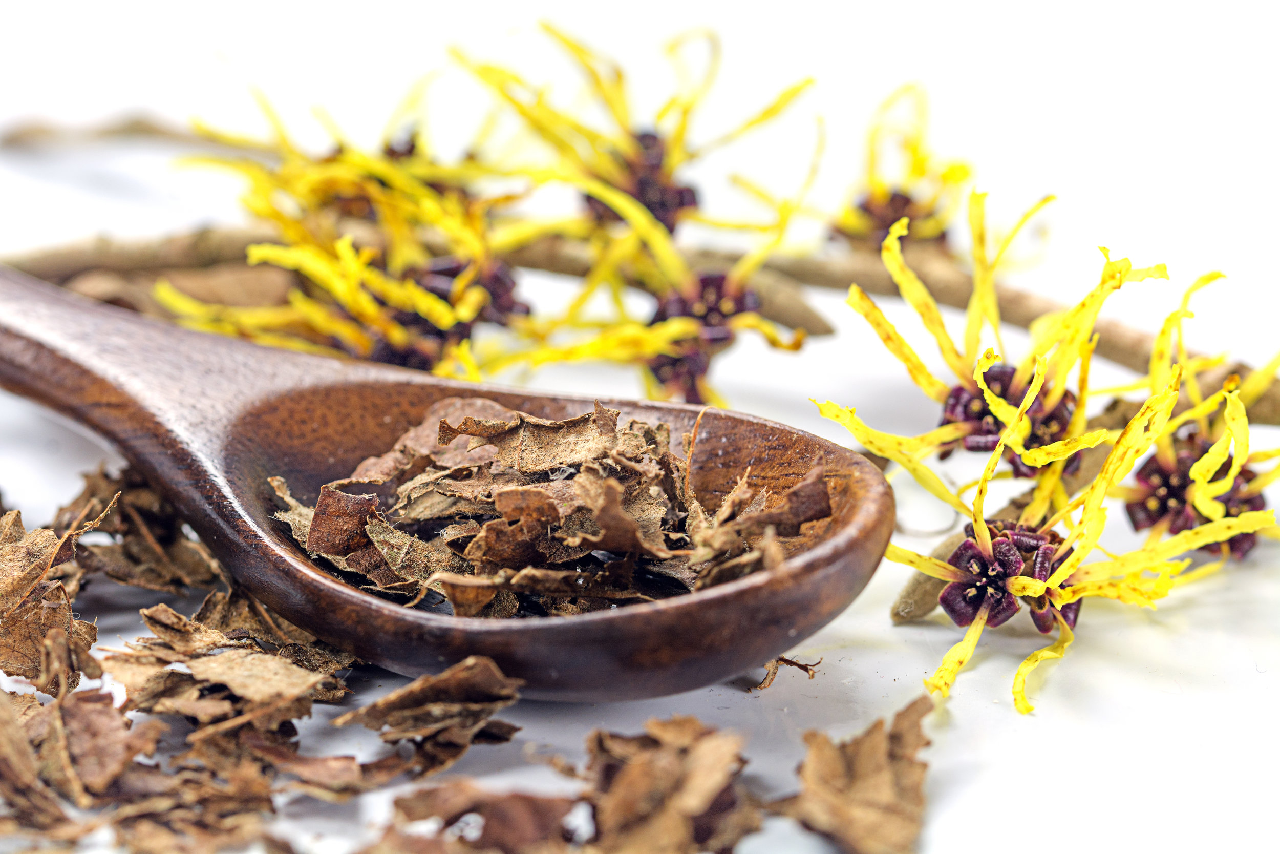 Witch Hazel - Witch hazel is rich in tannins, a natural plant compound with powerful antioxidant properties that can help protect your skin against damage when applied topically.