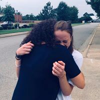 A CRPS patient hugs her mom after she runs again for the first time in years.